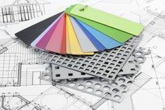 Palette der Farbenproben des Plastiks Lizenzfreie Stockbilder