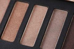 Palette des fards à paupières roses Photo stock