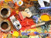 Palette des Künstlers Lizenzfreie Stockbilder