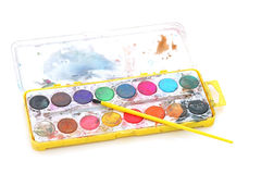 Palette des Malers Stockbilder