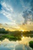 Palette des Seeufers, Singapur Stockfotografie