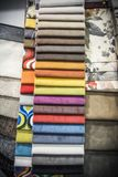 A Palette of Different Material designs. Multicolored cloth material designs palette royalty free stock images