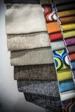 A Palette of Different Material designs. Multicolored cloth material designs palette stock images