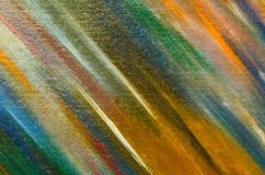 Palette of dull colors on the canvas. Green, blue, orange Stock Images