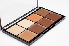 Palette of contour shades. Palette of eight different contour shades on a white background Royalty Free Stock Image