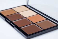Palette of contour shades. Palette of eight different contour shades on a white background Stock Images
