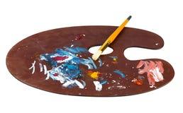 Palette en bois d'art photo stock