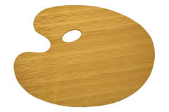 Palette en bois d'isolement Images stock