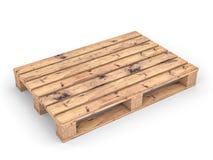 Palette en bois sur le blanc Photos stock