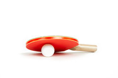 Palette et bille de ping-pong Images stock