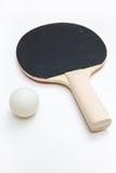 Palette et bille de ping-pong Images libres de droits