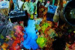 Palette et pinceau Photo libre de droits