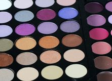 The palette eye shadow Royalty Free Stock Photo