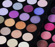 The palette eye shadow close up Royalty Free Stock Image