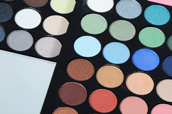 The palette eye shadow close up Royalty Free Stock Images