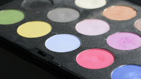 Palette with eyeshadow stock footage
