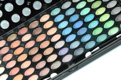 Palette of eyeshadows Stock Images