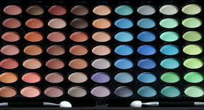 Palette of eyeshadows Royalty Free Stock Photography