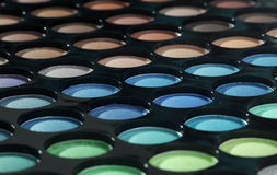 Palette of eyeshadows Stock Image