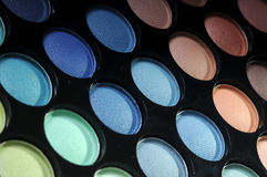 Palette of eyeshadows Stock Image