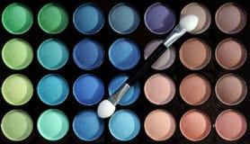 Palette of eyeshadows Royalty Free Stock Photo