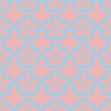 Palette florale sans couture géométrique de pastel de modèle illustration de vecteur