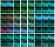 Palette for hair dyeing Stock Photo