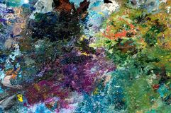 PALETTE II. An image with palette with oil paints Royalty Free Stock Image