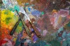 Palette knifes Stock Image