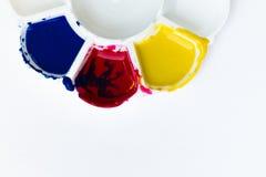 Palette, Kunst der Farbe Stockbilder