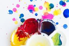 Palette, Kunst der Farbe Stockbild