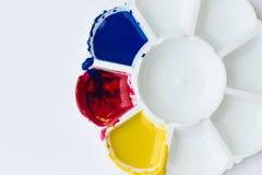 Palette, Kunst der Farbe Stockfoto