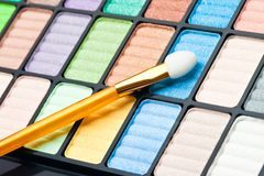 The palette for makeup Royalty Free Stock Photography