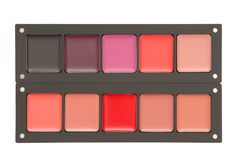 Palette of many-colored lipstick Stock Photography
