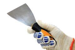 Palette-Messer in der Hand Lizenzfreie Stockfotos