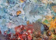 Palette mit Tröpfchen Lizenzfreie Stockbilder