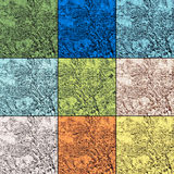 Palette of nine trendy colors of spring 2017 in natural textures. Palette of nine trendy colors of spring 2017 in natural geological textures. Square image Stock Image