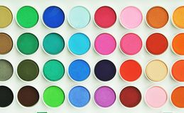 Free Palette Of Colorful Watercolors. Stock Images - 142985904