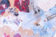Palette and paintbrush Stock Photography