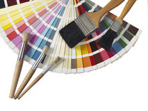 Palette and paintbrushes Royalty Free Stock Photos
