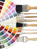 Palette and paintbrushes Royalty Free Stock Images