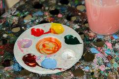 Palette  painting Stock Photos