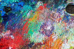 Palette for painting. The palette for painting and palette knife royalty free stock photo