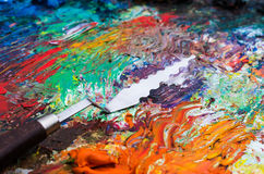 Palette for painting Stock Photo