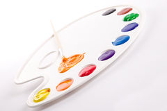Palette painting Stock Photo