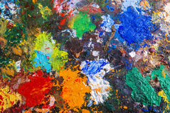 Palette with paints Royalty Free Stock Images