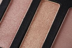 Palette of pink eye shadows, close up Royalty Free Stock Image