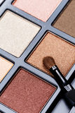 Palette of Professional Eye Shadows Stock Photography