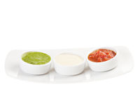 Palette of sauces. Isolated on white background Royalty Free Stock Image