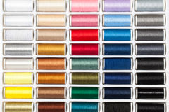 Palette Sewing Threads Stock Image